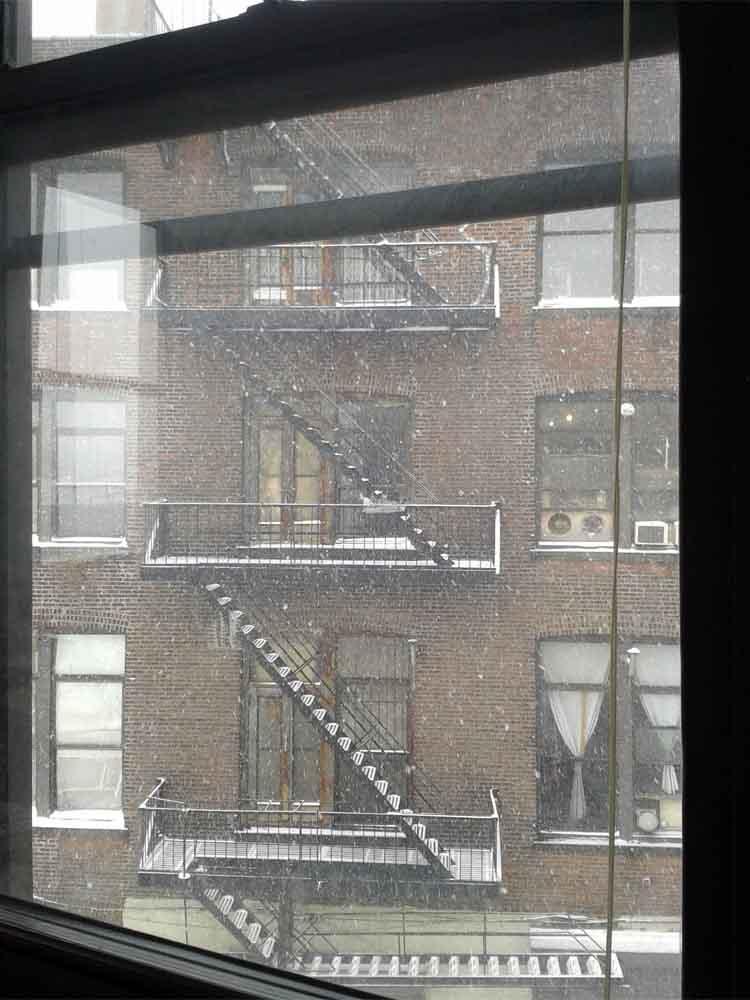 NYC_iscp_Studio_Blickausdem FensterTreppe