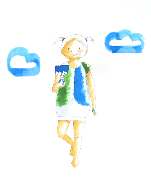 Kindermode-illustrationen