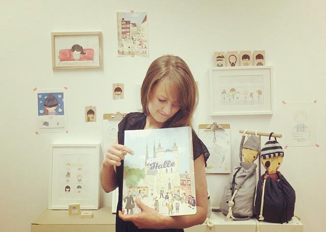 Anne Sommer Studio zeigt das Wimmelbuch Halle